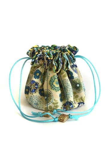 Shoptiques Product: Fabric Jewelry Bag - main