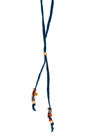 Cinq Indigo Pollen Necklace - Front cropped