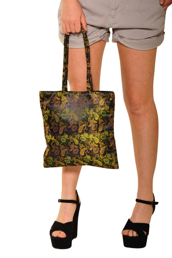 Shoptiques Product: Handcrafted Silk Bag - main
