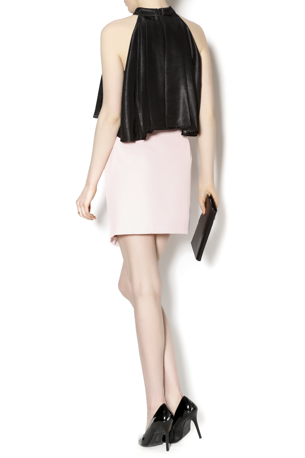 C/MEO COLLECTIVE Soft Pink Moto Skirt - Side Cropped Image