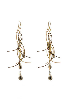 Shoptiques Product: Sticks Stones Earrings Long