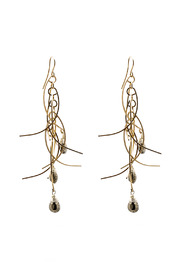 ZIA Boutique Sticks Stones Earrings Long - Product Mini Image