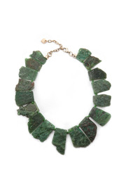 Green Stone Necklace - Front cropped