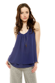 Shoptiques Product: Sleeveless Ruffle Top