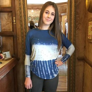 Shoptiques Blue Long Sleeve Top