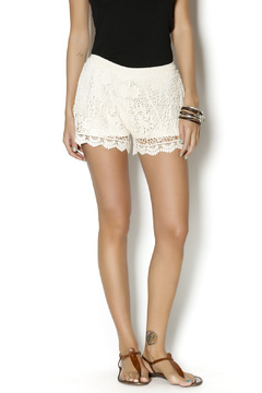 On Twelfth Ivory Crochet Shorts - Product List Image