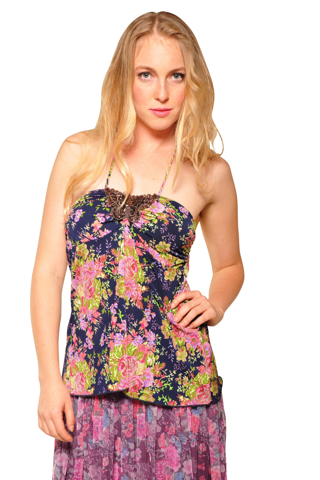 By Closet Floral Halter Top - Main Image