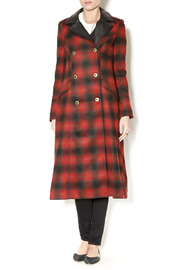 Free People Plaid Coat - Front full body