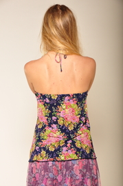 By Closet Floral Halter Top - Back cropped