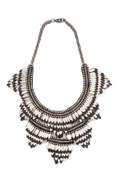 Deepa Gurnani Feather Bib Necklace - Product List Image