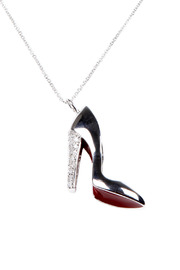 Shoptiques Product: Red Bottom Shoe Necklace
