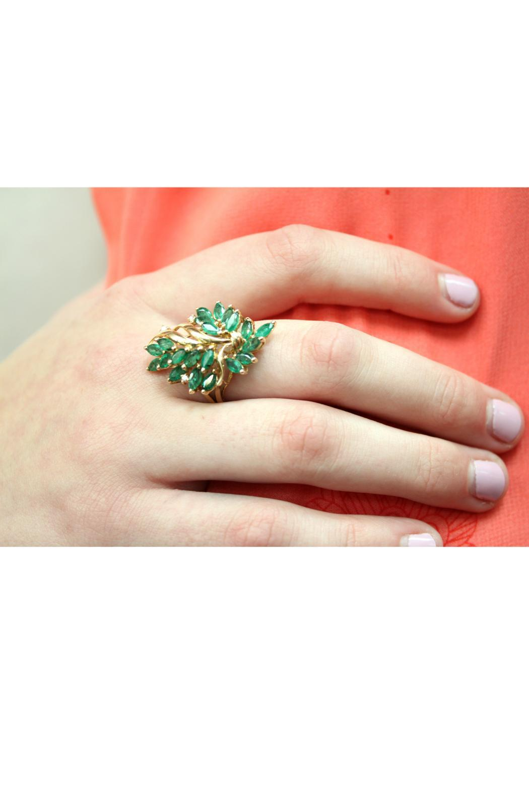 CDO` Emerald Cluster Ring - Back Cropped Image