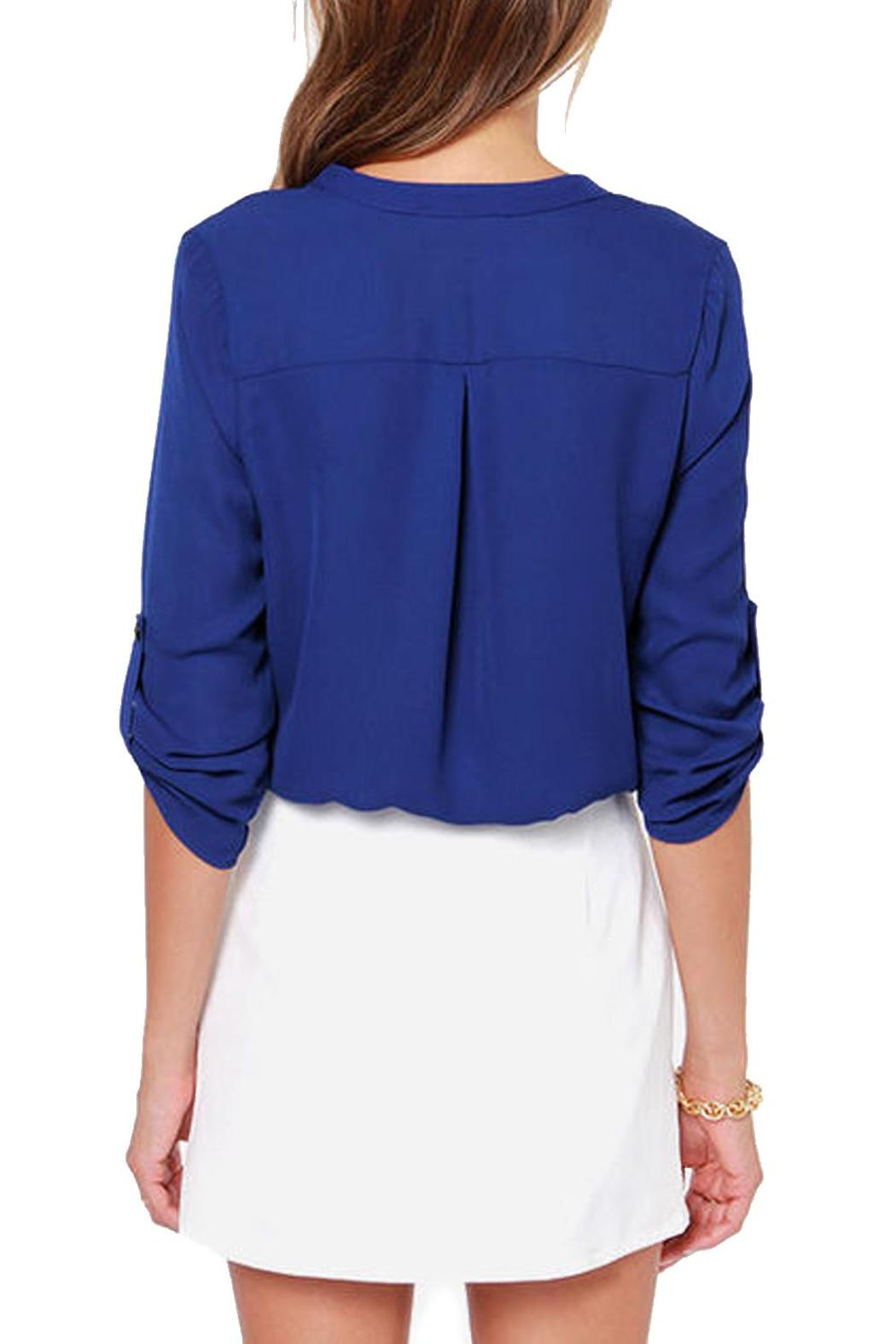 Lush Cobalt Blue Blouse From Seattle By Simply Chic