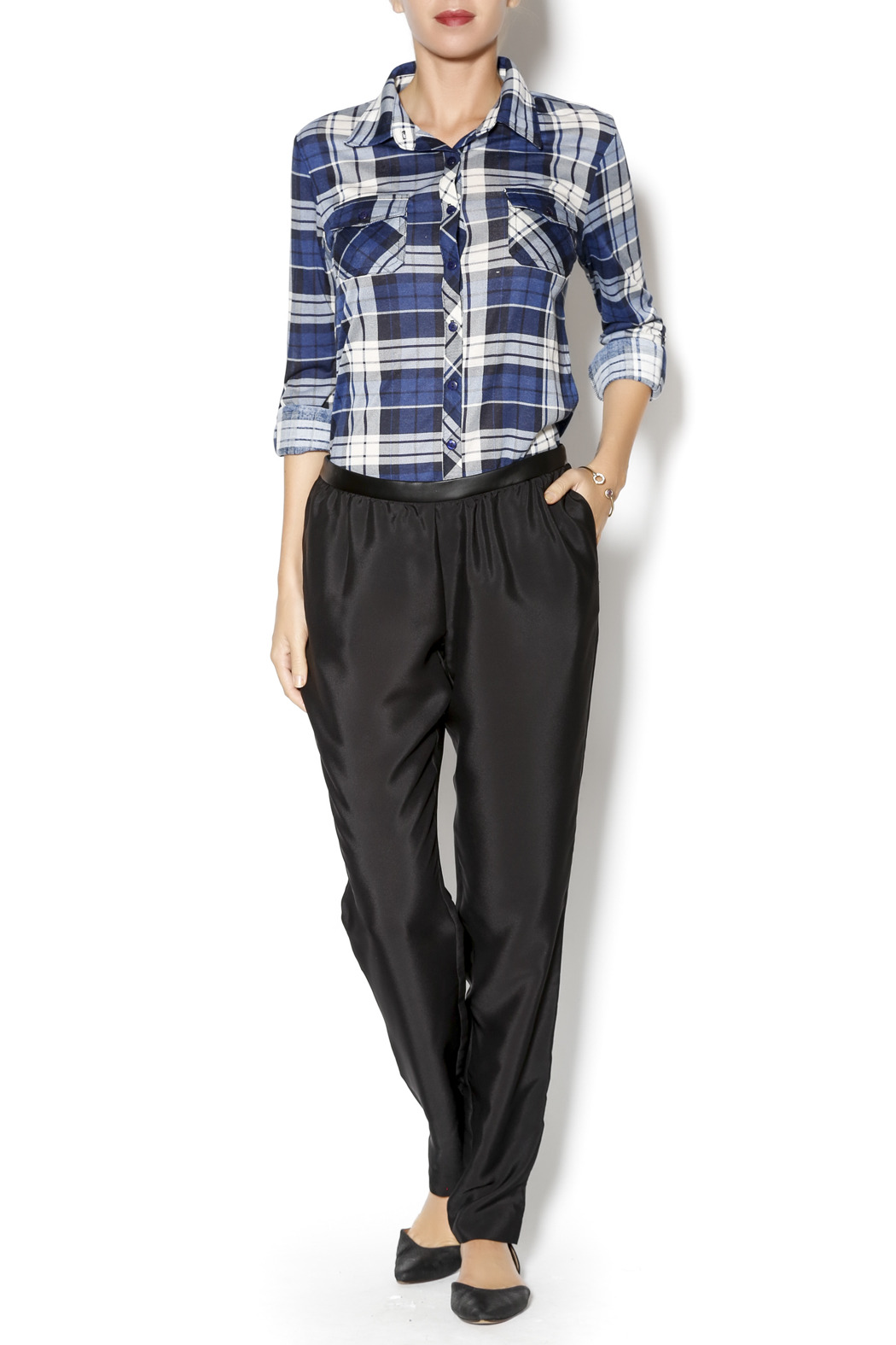BCBGeneration Woven Sportswear Pant - Front Full Image