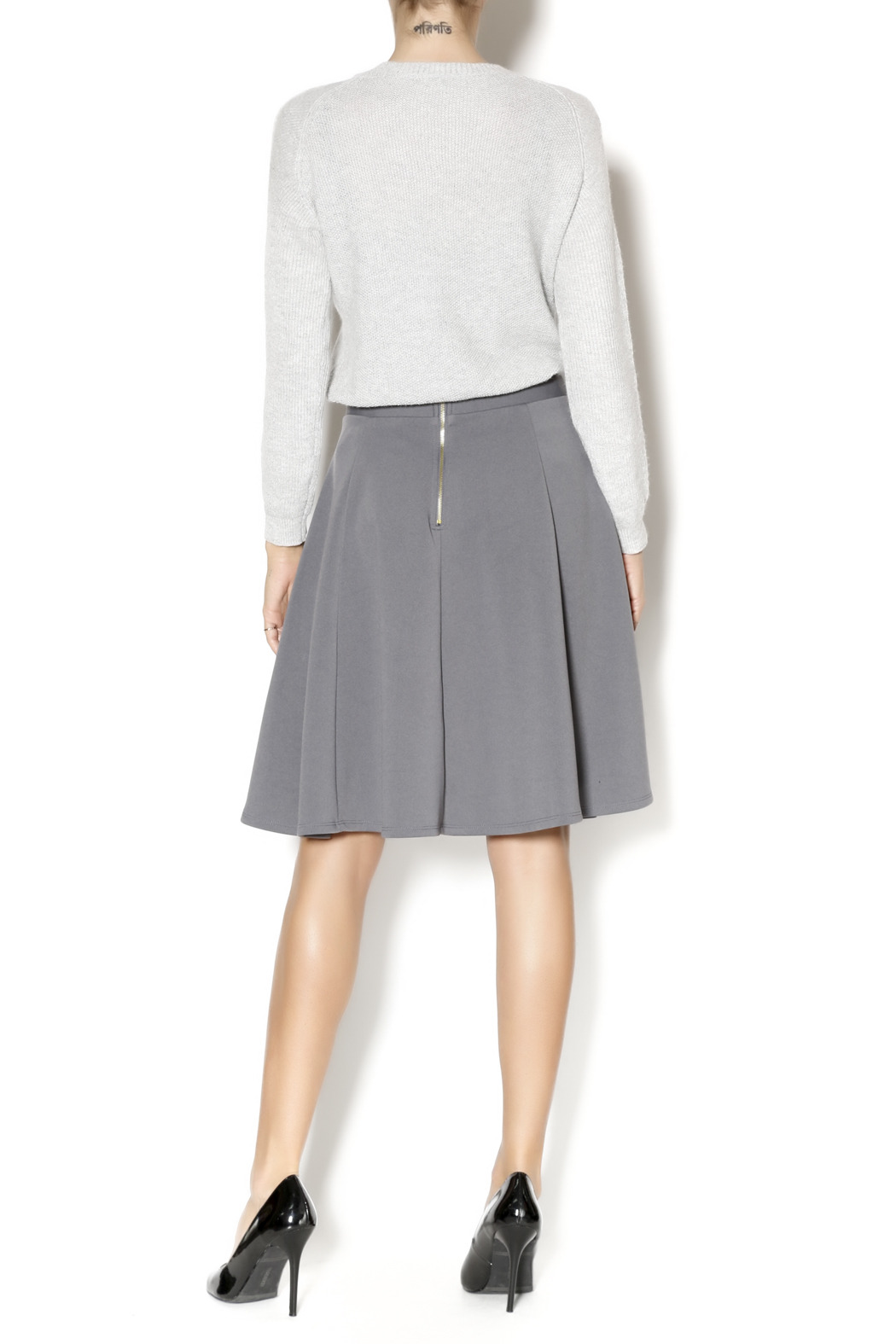 Gray A-Line Skirt — Shoptiques