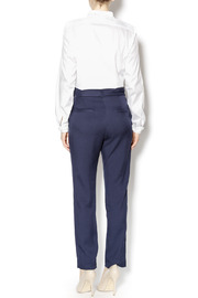 Pinkyotto Navy High Waisted Tie Pants - Side cropped