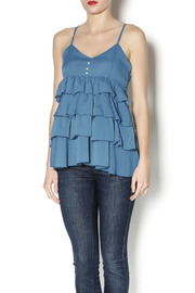 Elise Pearl Ruffle Top - Front cropped