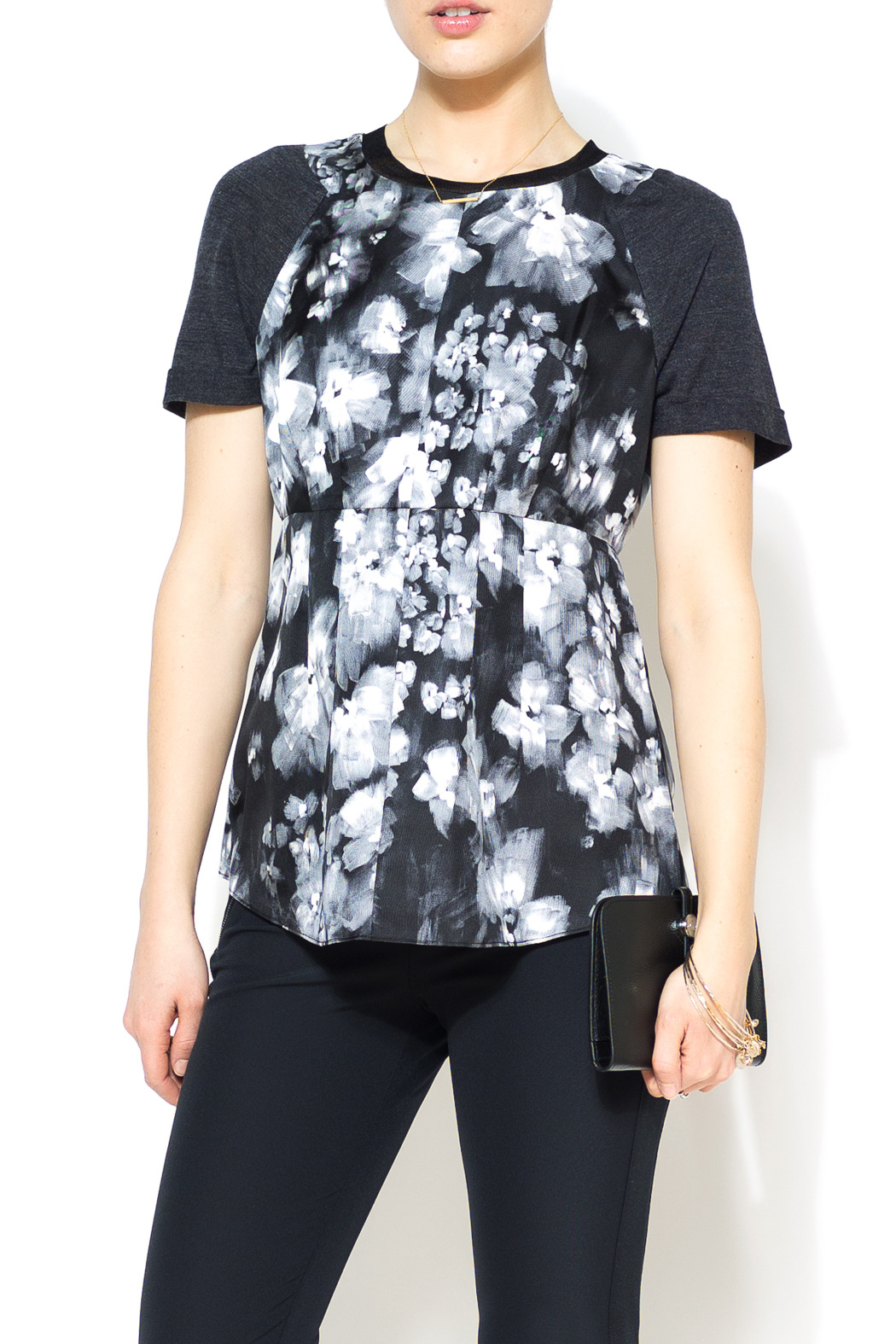 Rebecca Taylor Ghost Flower Top - Main Image