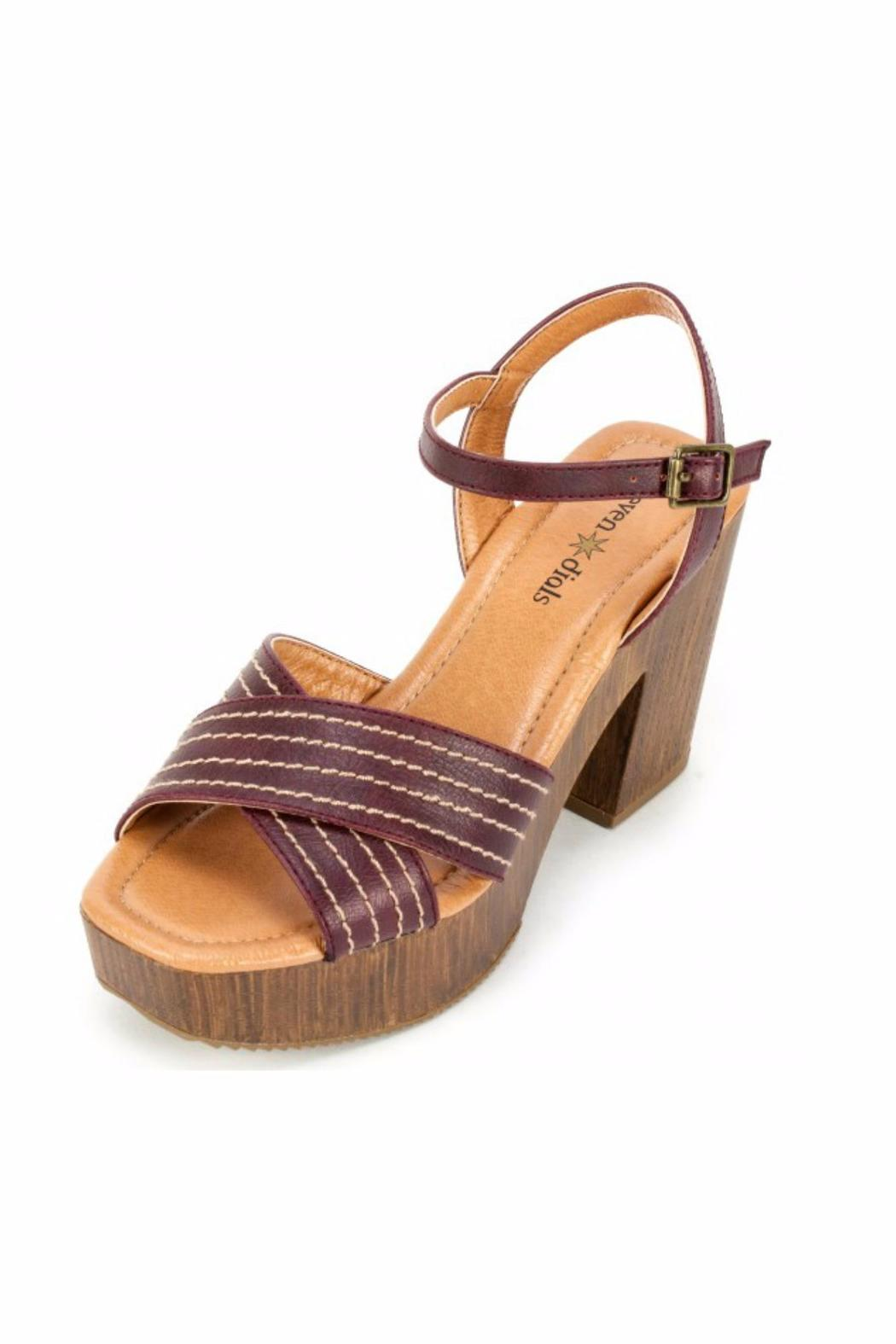 7 Dials Aaliyah Chunky Sandal - Front Full Image