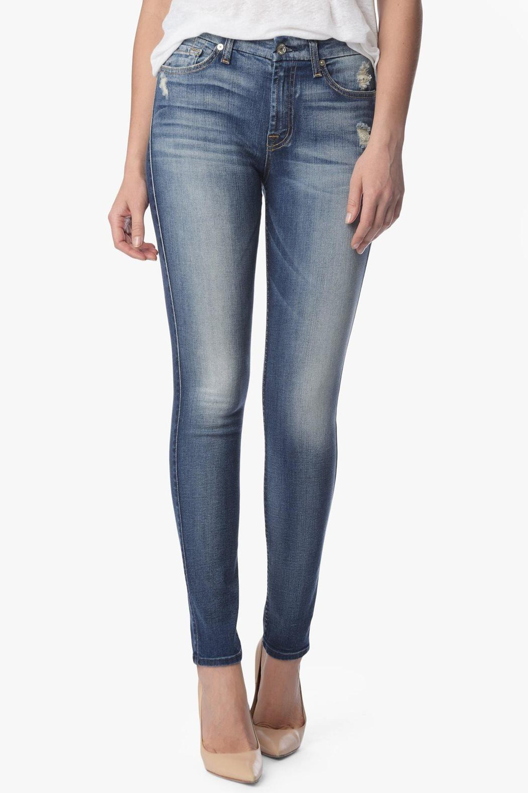 7 For all Mankind Midrise Skinny Authentic-Light - Main Image