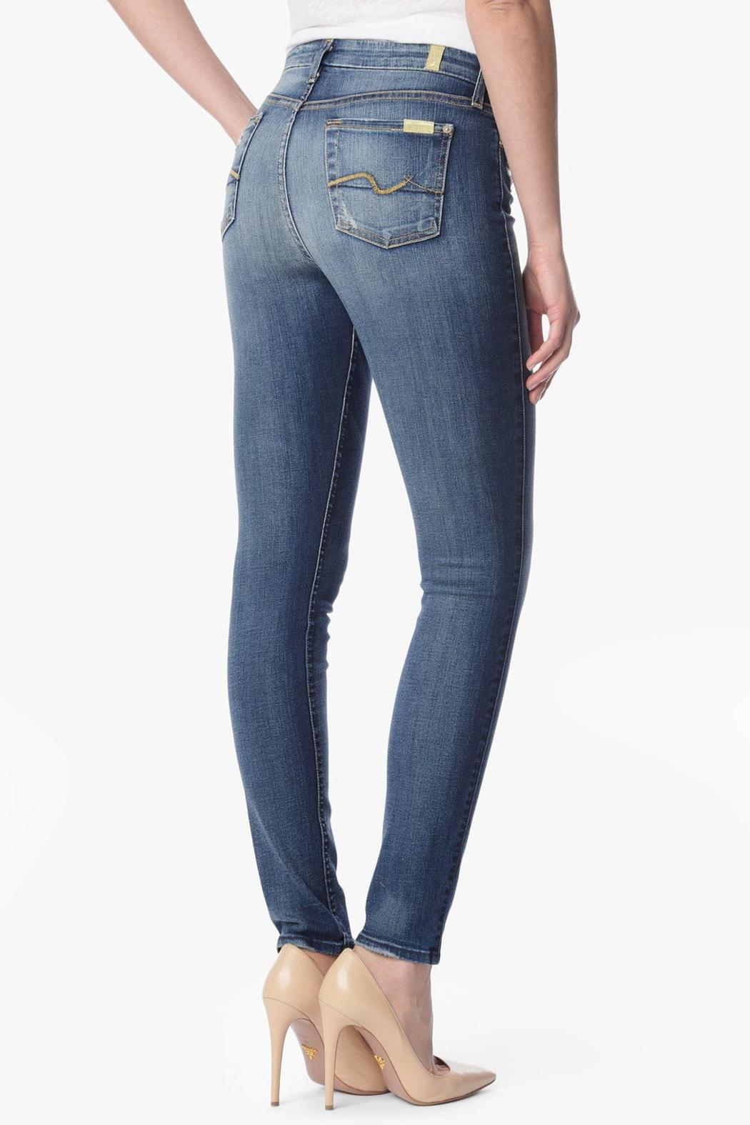 7 For all Mankind Midrise Skinny Authentic-Light - Front Full Image