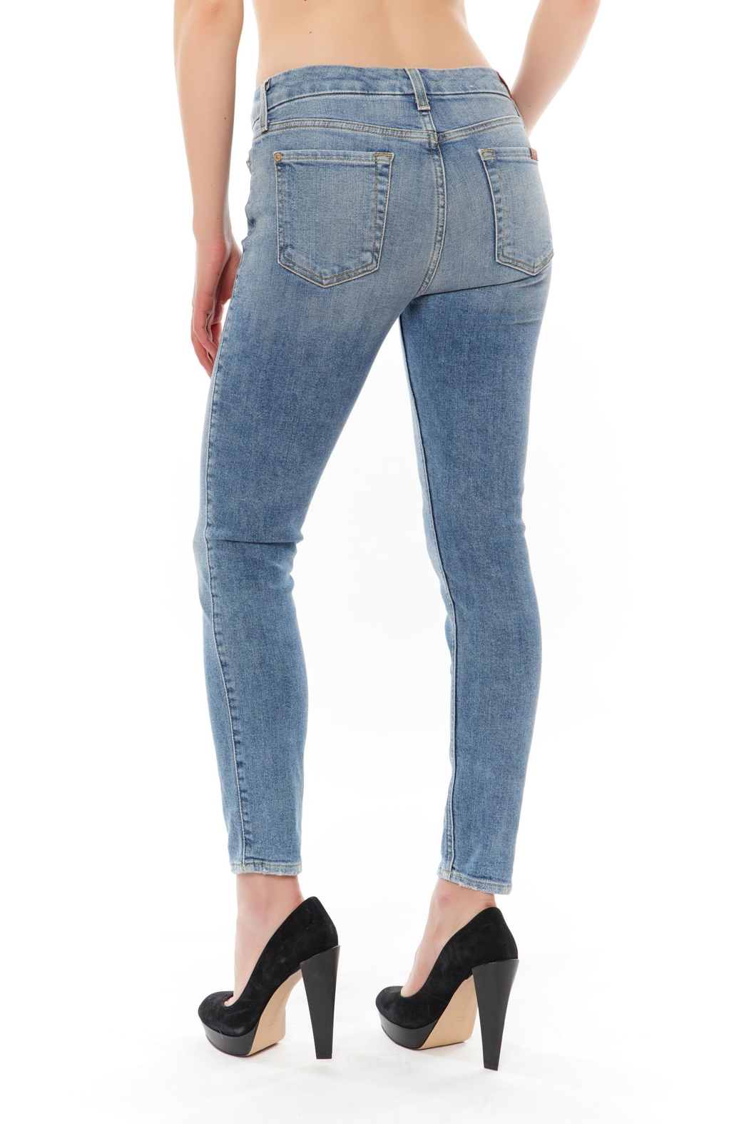 7 For all Mankind Ankle Skinny Jean - Front Full Image