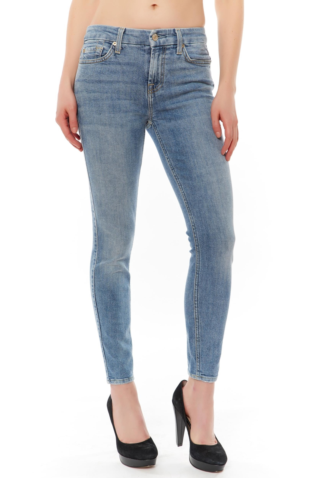 7 For all Mankind Ankle Skinny Jean - Main Image