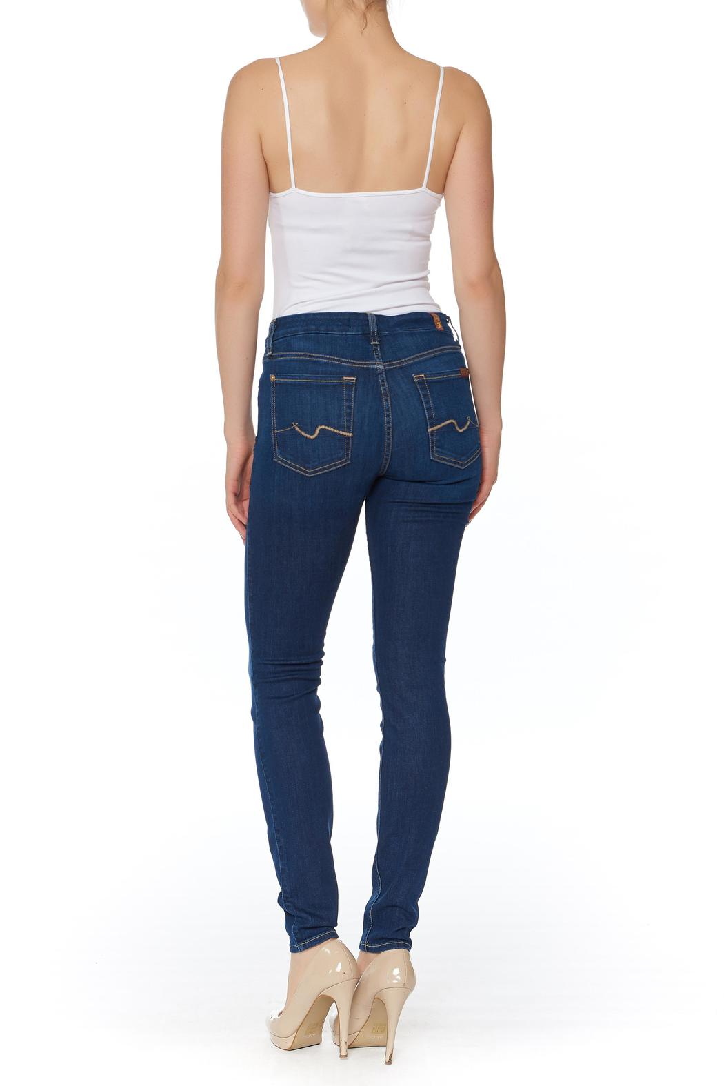7 For all Mankind Air Denim Skinny Jeans - Front Full Image