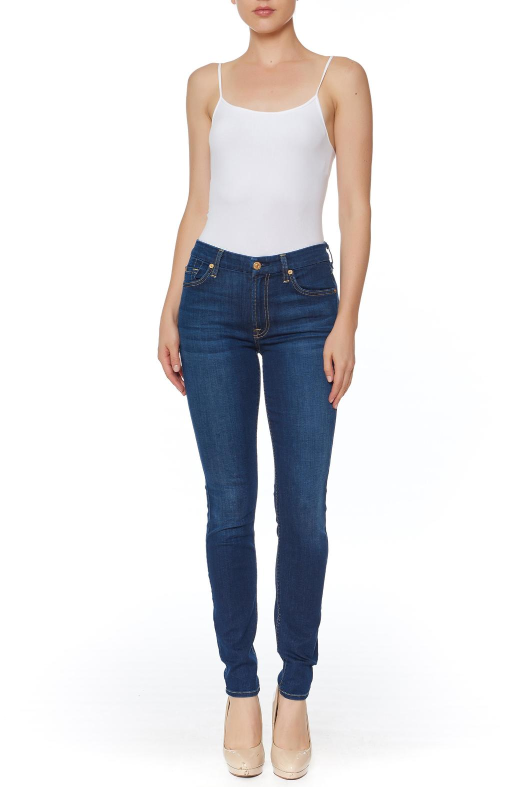 7 For all Mankind Air Denim Skinny Jeans - Front Cropped Image