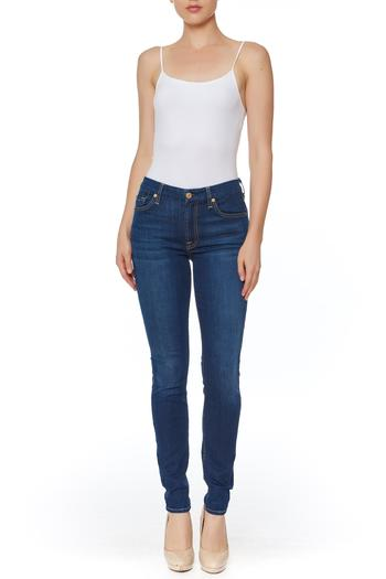 7 For all Mankind Air Denim Skinny Jeans - Main Image