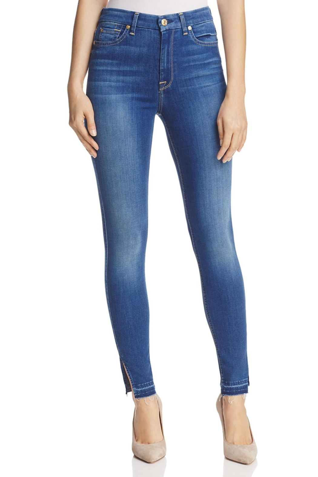 7 For all Mankind B(air) High-Rise Skinny - Main Image