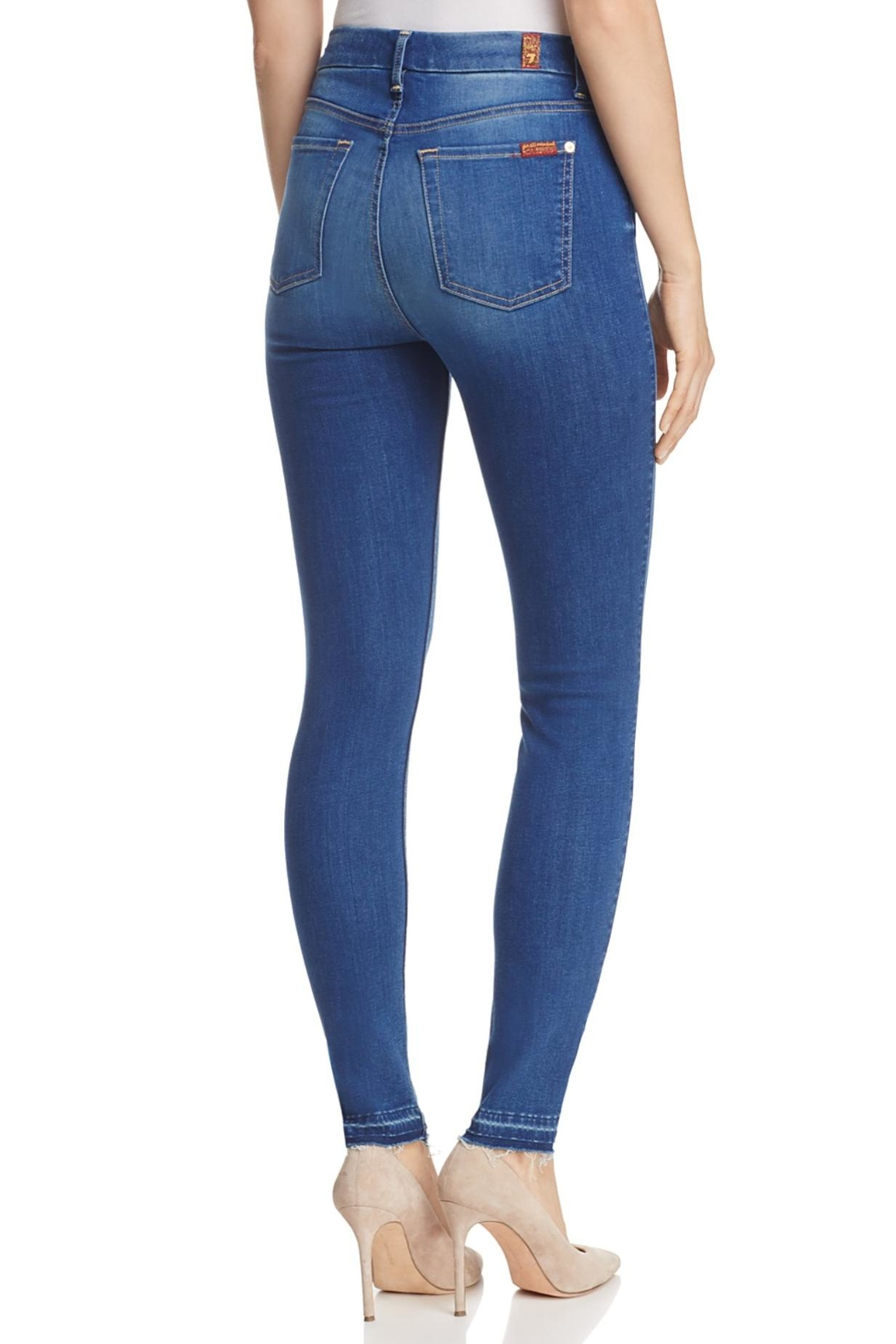 7 For all Mankind B(air) High-Rise Skinny - Front Full Image