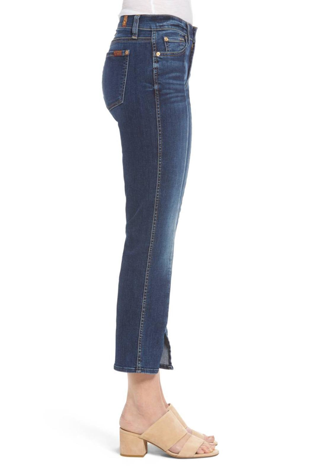 7 For all Mankind Cropped Boot Flare - Side Cropped Image