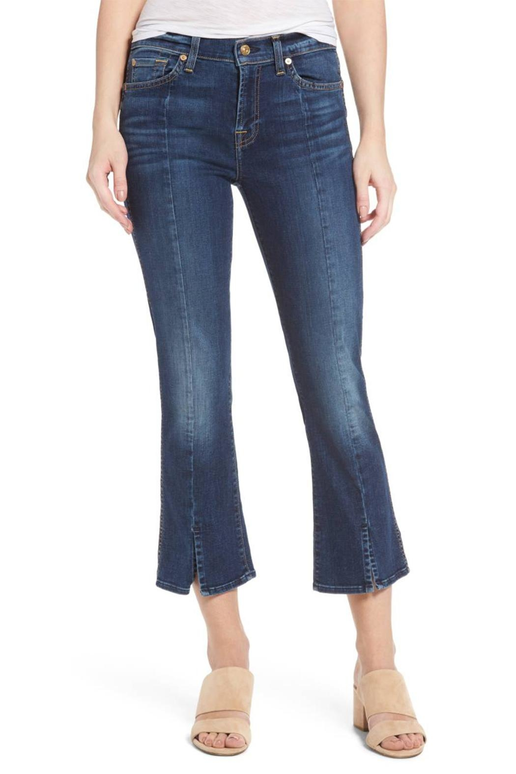 7 For all Mankind Cropped Boot Flare - Main Image