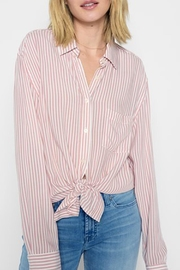 7 For all Mankind Hi-Lo Tie Shirt - Front cropped