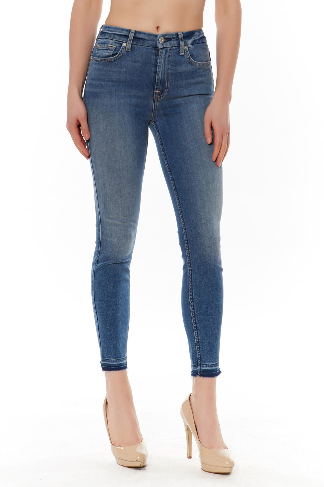 7 For all Mankind High Waist Jean - Front Cropped Image