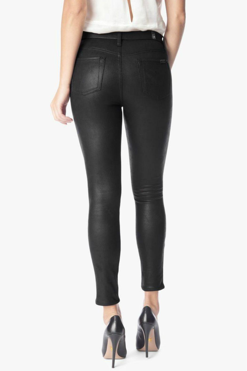 7 For all Mankind High Waisted Leather Skinny - Side Cropped Image