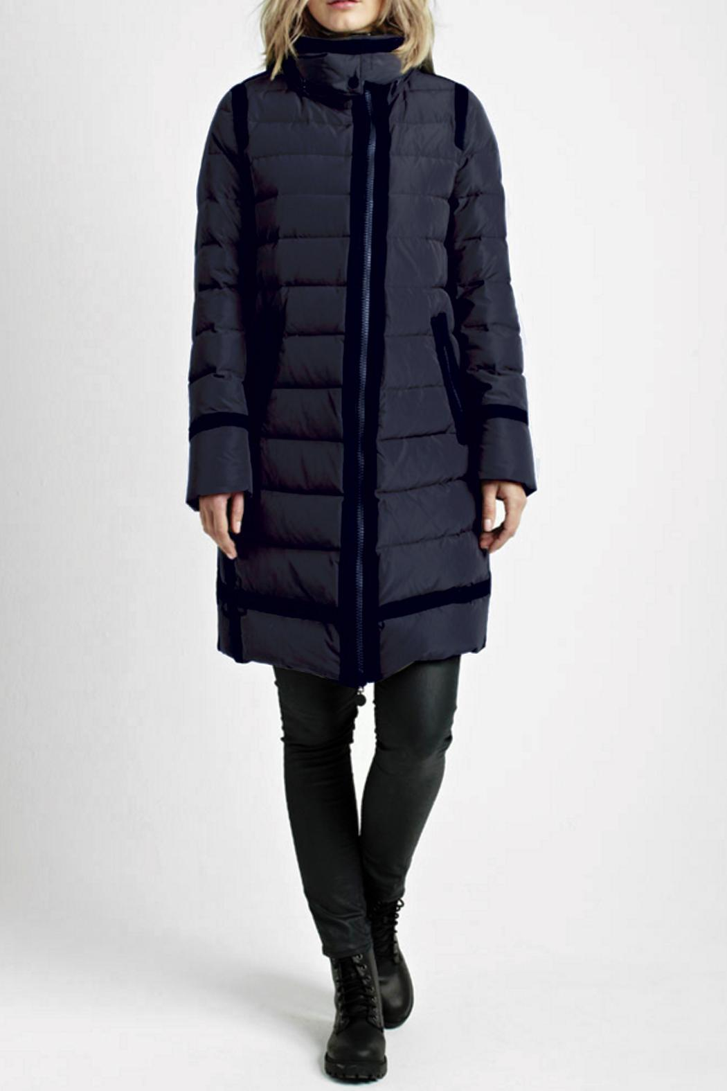 7 SEASONS Navy Down Coat from Aberdeen by ESCALE FRANCE — Shoptiques