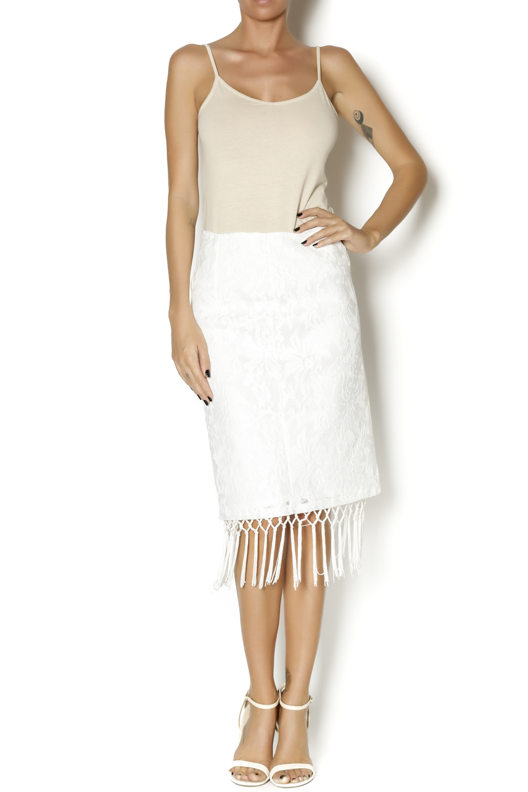 J.O.A. Lace Skirt - Front Full Image