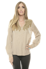 Greylin Sierra Beaded Blouse - Front cropped