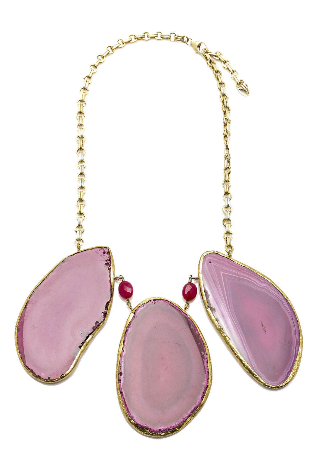 Mariposa Raw Agate Necklace - Main Image