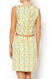 I. Madeline Yellow Daisy Crop Top - Front full body