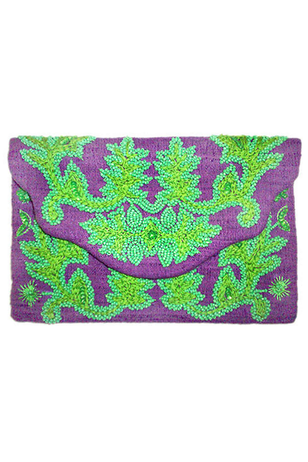 Moyna Beaded Clutch - Front Cropped Image