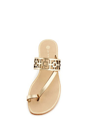 Trina Turk Gold Brentwood Sandal - Front full body