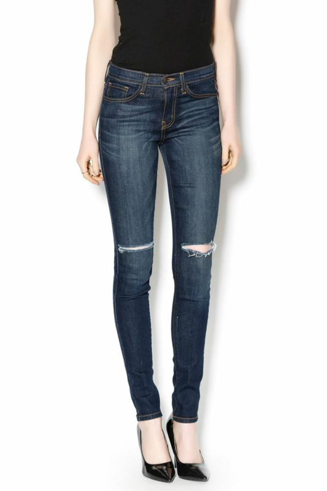 Flying Monkey High-Waisted Ripped Jeans - Main Image