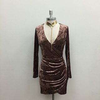 Shoptiques Velvet Long Sleeve Dress