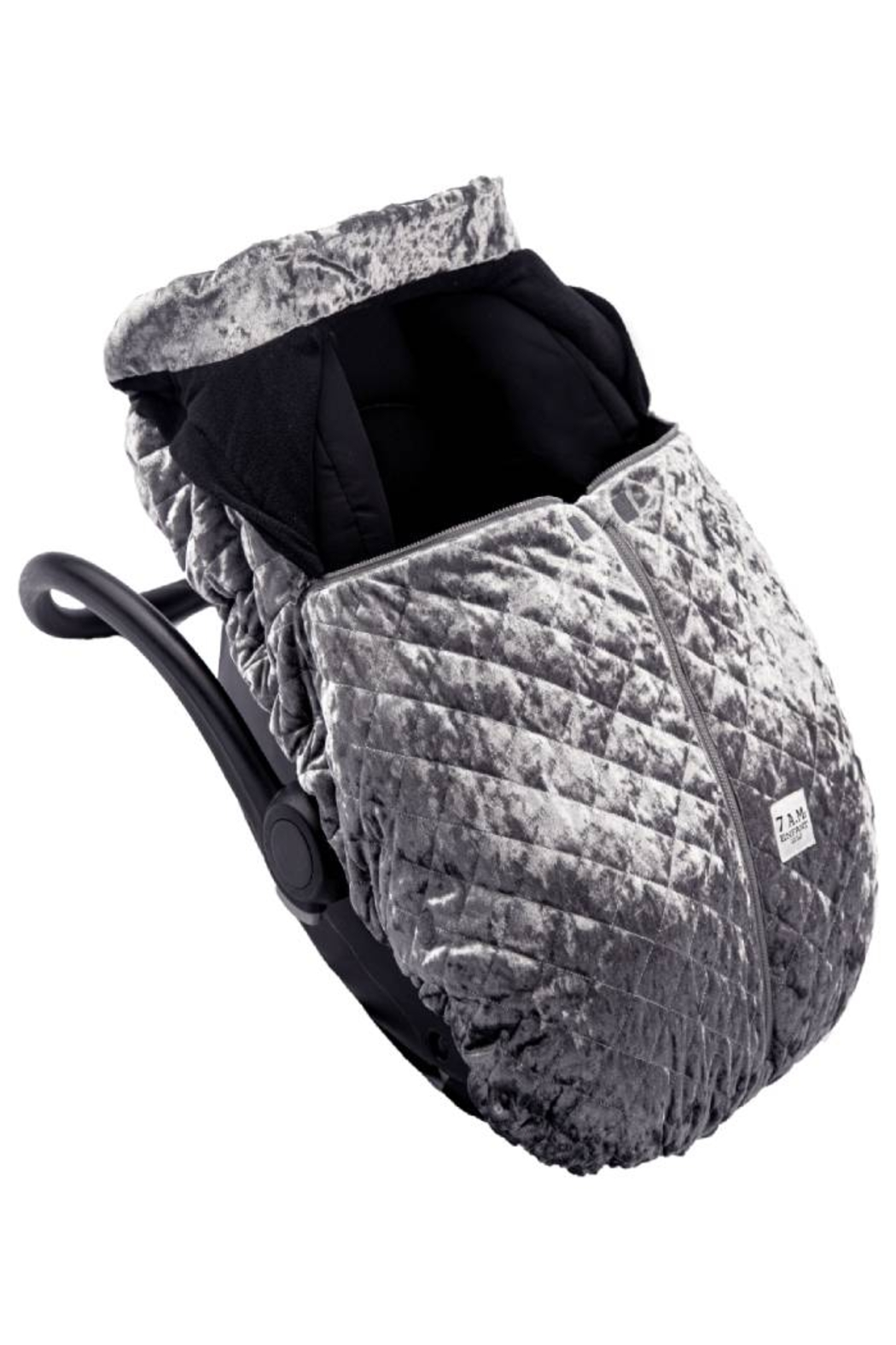 7AM Enfant Quilted Velvet Ultra Lightweight Cocoon For Baby's Car Seat - Side Cropped Image