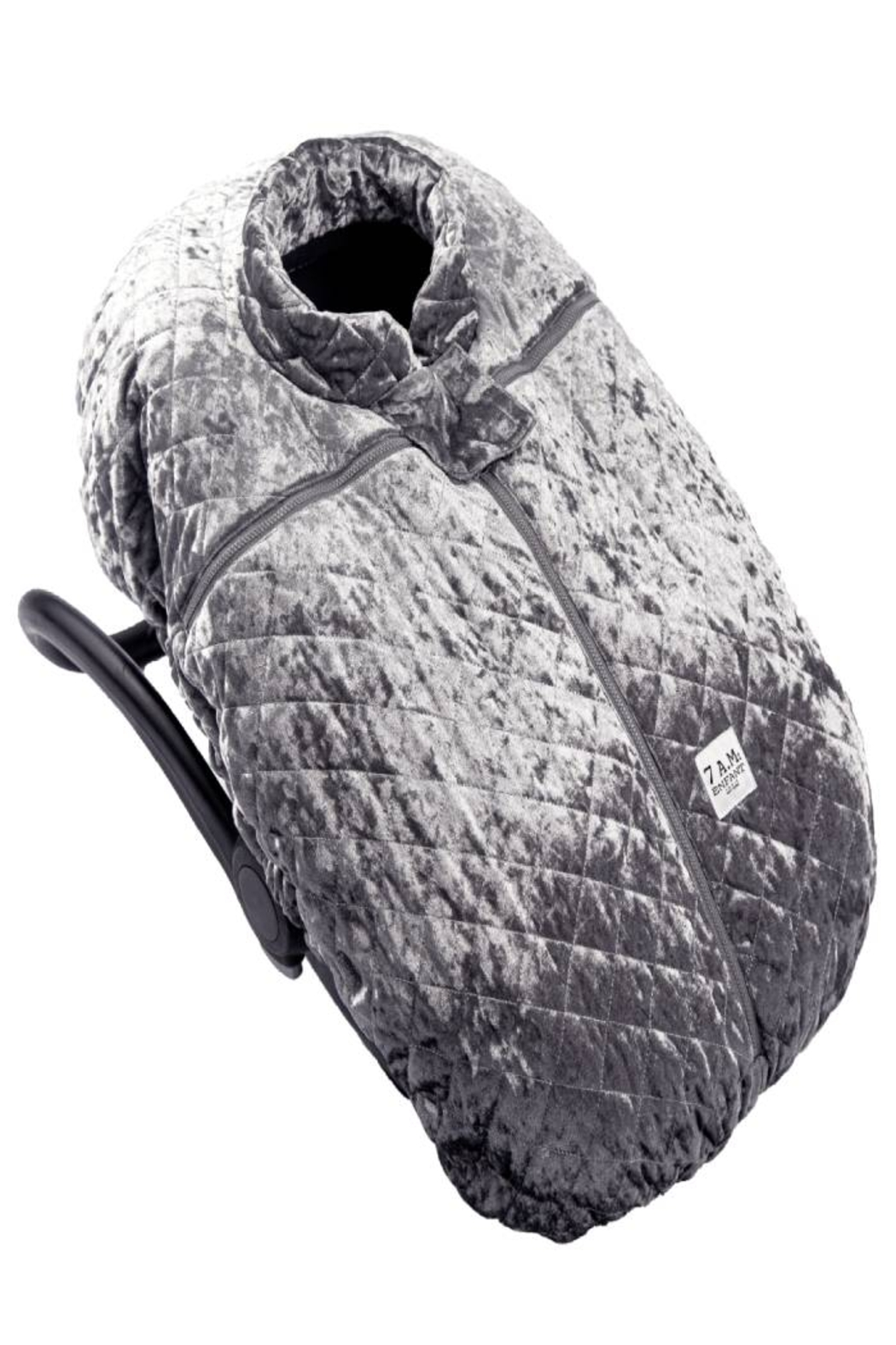 7AM Enfant Quilted Velvet Ultra Lightweight Cocoon For Baby's Car Seat - Front Full Image