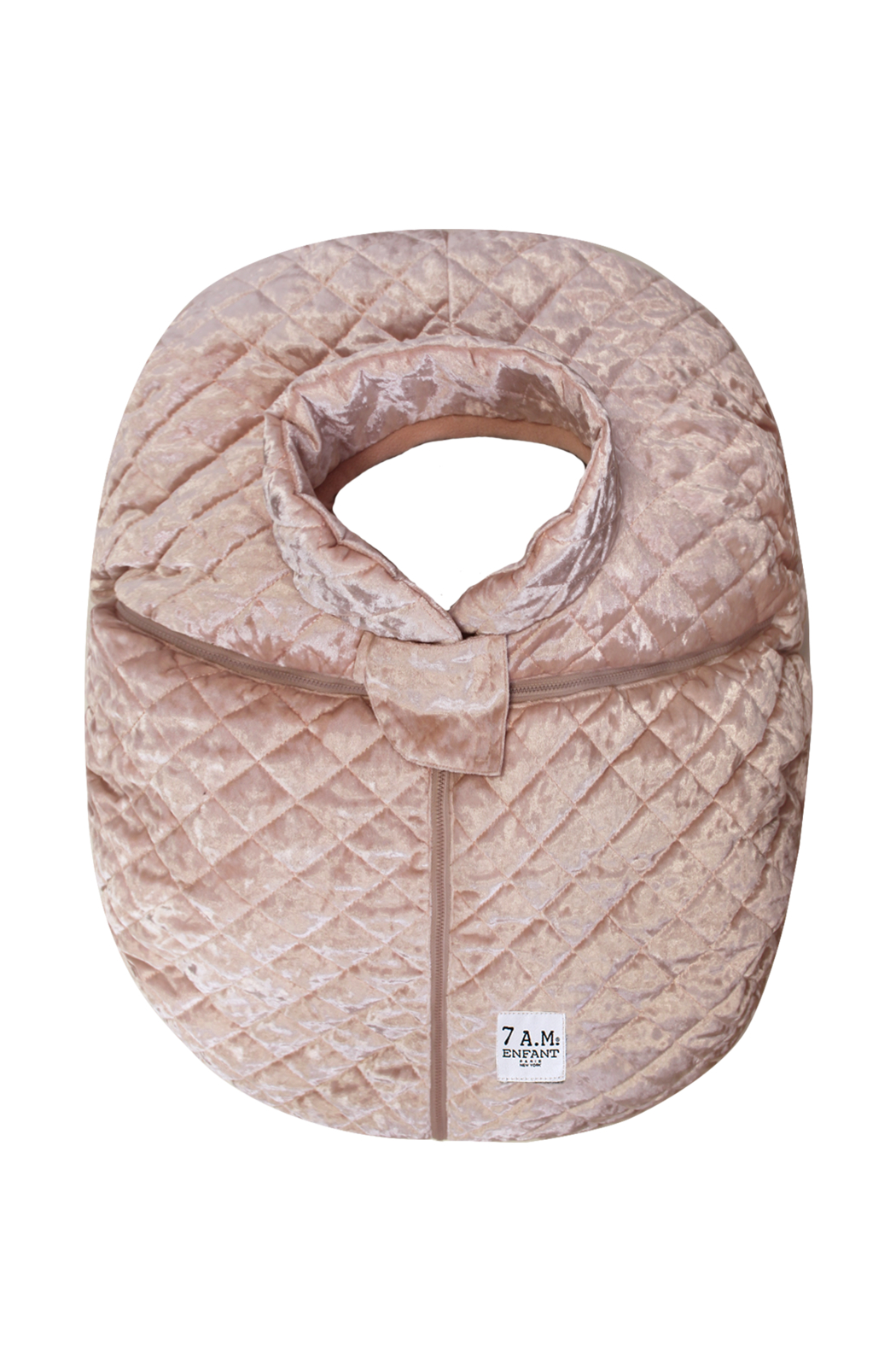 7AM Enfant Quilted Velvet Ultra Lightweight Cocoon For Baby's Car Seat - Front Cropped Image