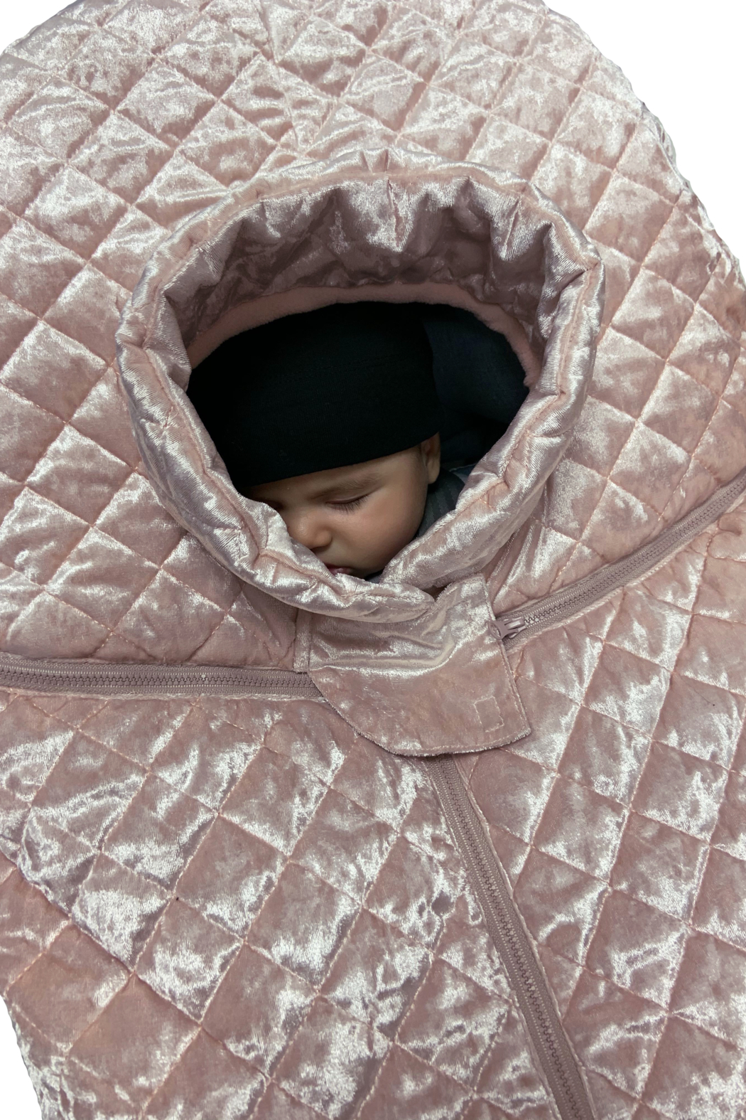 7AM Enfant Quilted Velvet Ultra Lightweight Cocoon For Baby's Car Seat - Back Cropped Image
